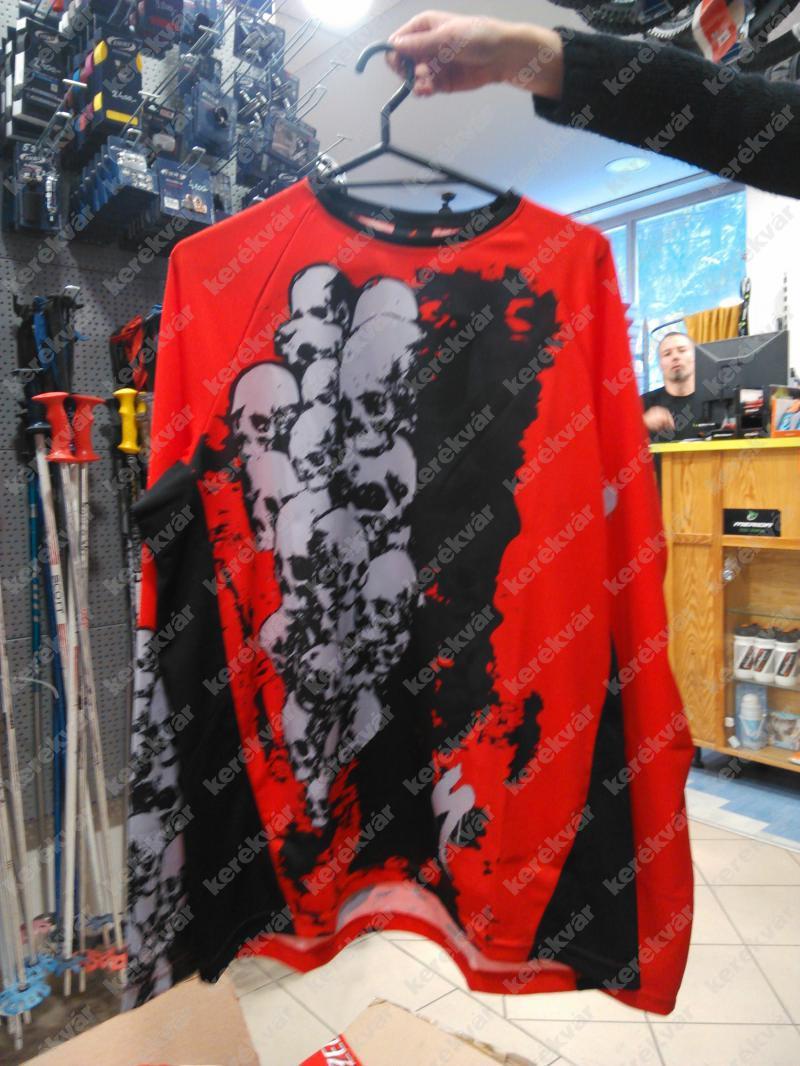 Specialized Terra Skull hosszú ujjú mez piros/fekete