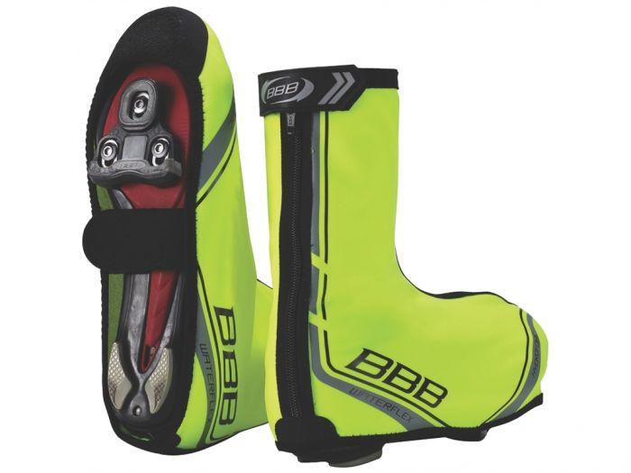 BBB Waterflex rain shoe cover neon green