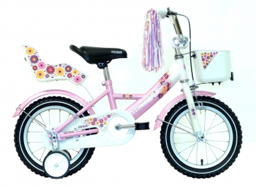 "Hauser Swan children bicycle white/pink 14"" 2017"