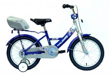 """Hauser Swan gyerek kerékpár ezüst/kék 16"""" 2017"""