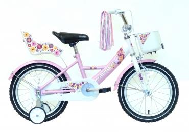 """Hauser Swan gyerek kerékpár fehér/rózsaszín 16"""" 2017"""