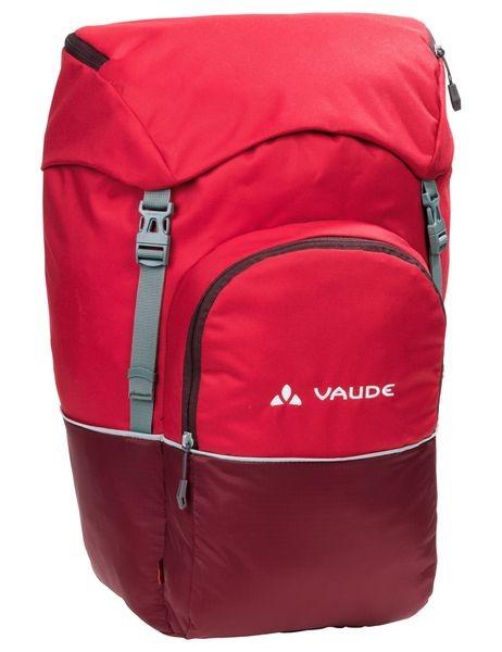 0534128bc19c Vaude Road Master Back táska rack mount piros/bordó 2 compartment ...