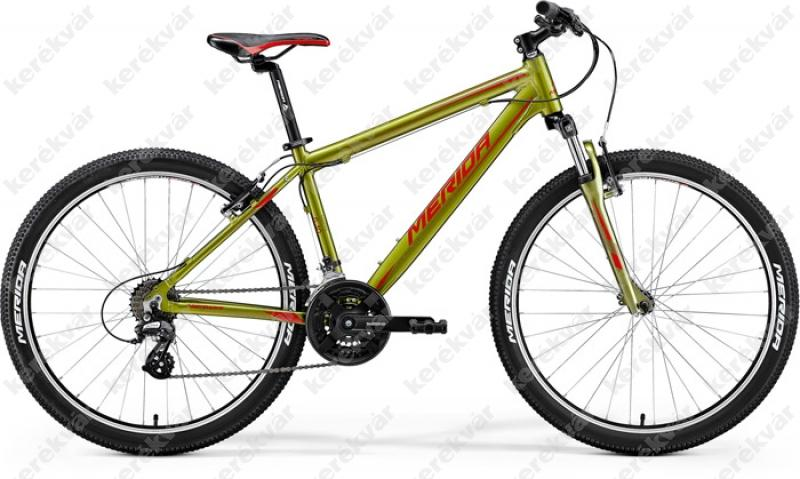 """Merida Matts 6.10V MTB 26"""" kerékpár oliva zöld/piros 2018"""