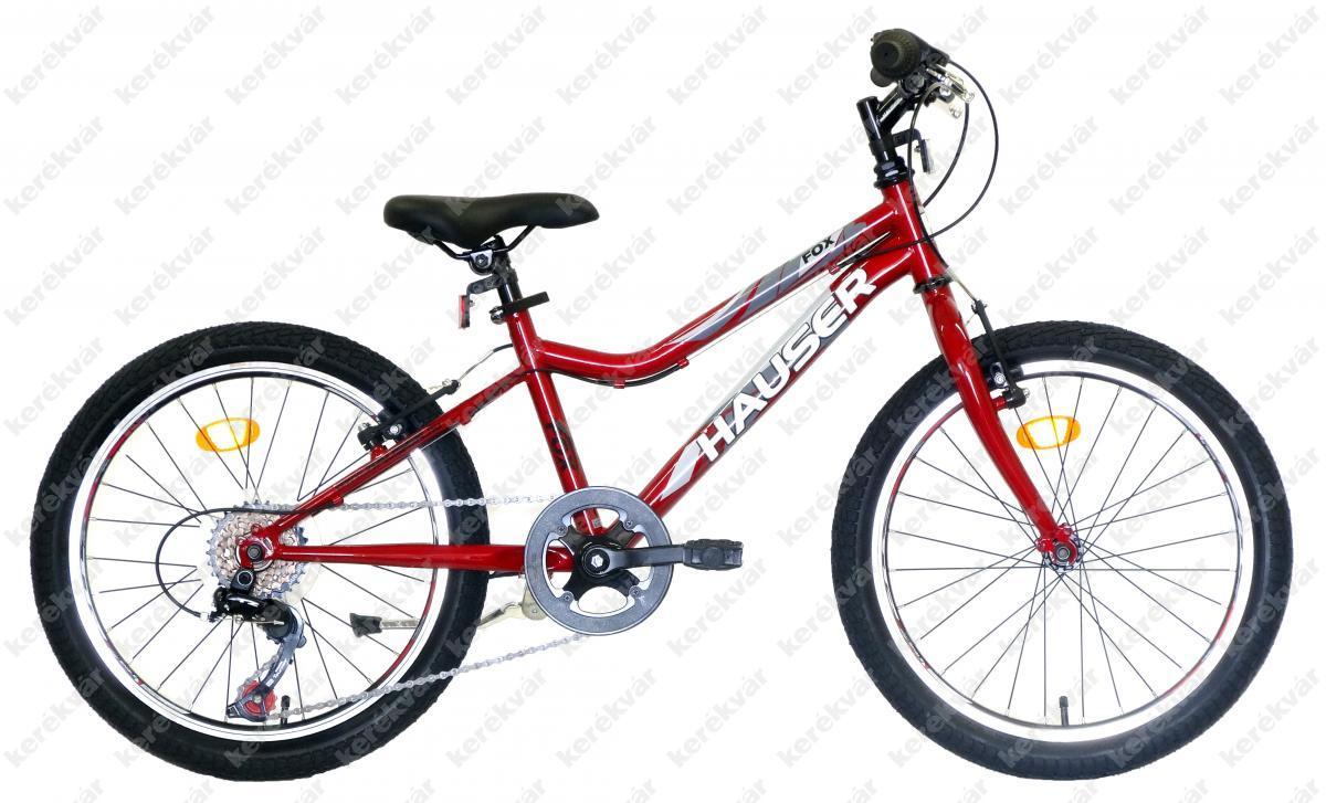 Hauser Fox gyerek kerékpár bordó dobozos