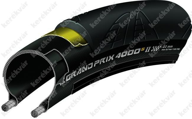 Continental Grand Prix 4000 RS II országúti 622(700C) külső gumi hajtogatós fekete
