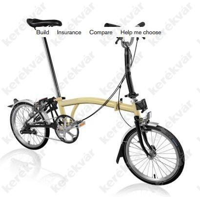 Brompton M 3 kerékpár elefántcsont 2018