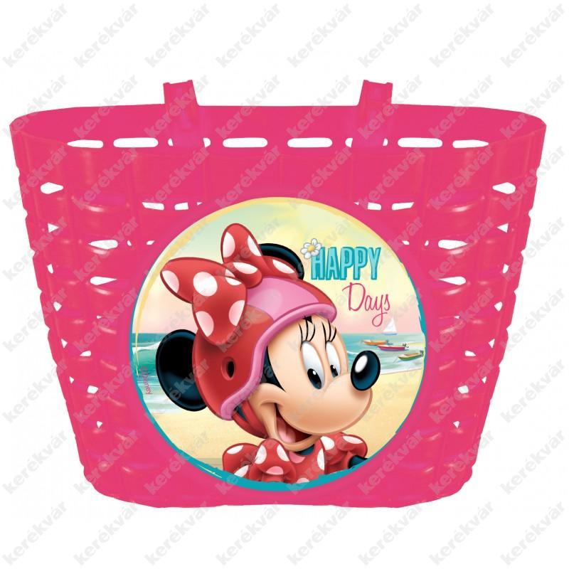 NN kormányra szerelhető műanyag kosár rózsaszín Disney