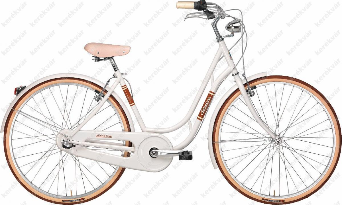 "Adriatica Danish Lady 28"" woman's bicycle 6 speed white 2018"