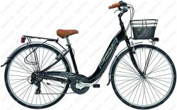 "Relax 28"" woman's bicycle 6 speed black 2018  Image"