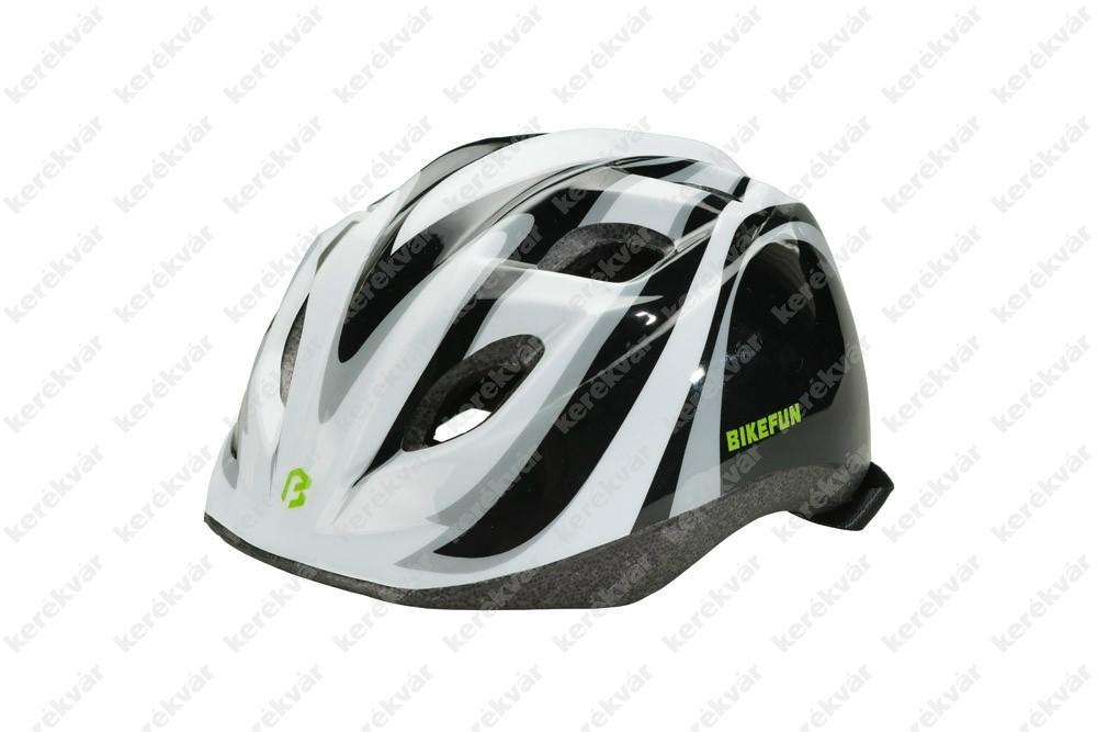 Bikefun Junior gyerek fejvédő fekete/fehér