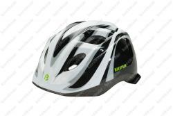 Junior children helmet black/white    Image