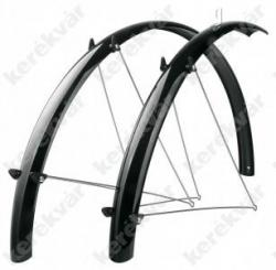 "Fender Set 28"" full length mud guard black plastic    Image"