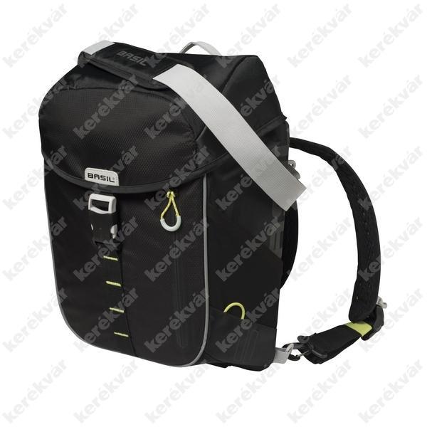 Basil Miles Daypack detachable rack táska black/lime