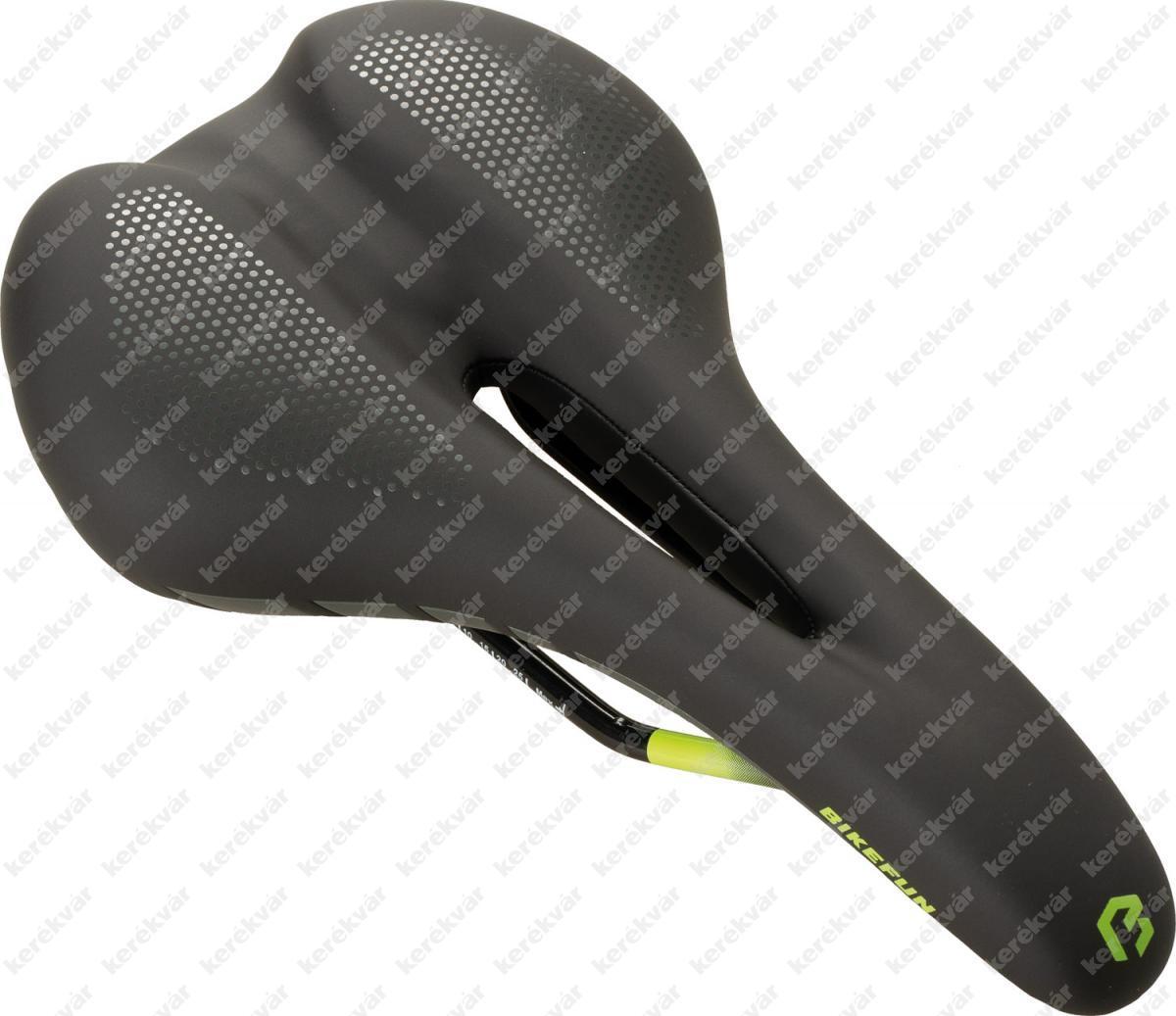 Bikefun Cortina nyereg fekete/zöld