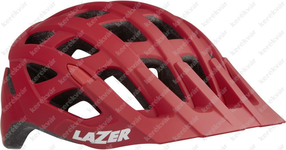 Lazer Roller + NET fejvédő matt piros 2020